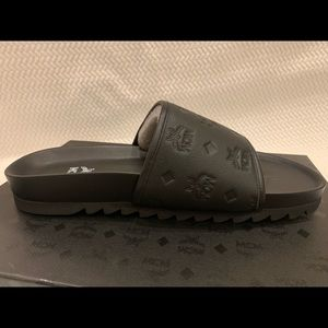 Brand new mcm MENS slippers with box and tags